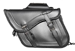 Motorcycle Saddlebags with Braid Detail