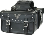 Eagle Emblem Studded Motorcycle Saddlebags