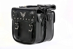Motorcycle Saddlebags With Eagle and Studs