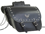 Motorcycle Saddlebags Studded with Eagle Emblem