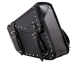 Studded Motorcycle Swing Arm Bag Right Side