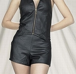 Womens Leather Shorts With Back Zipper