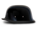 German Gloss Black Novelty Motorcycle Helmet