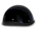 Smokey Gloss Black Novelty Motorcycle Helmet
