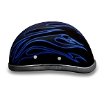 Novelty Motorcycle Helmet with Blue Flames
