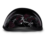 Barbed Wire and Roses Novelty Motorcycle Helmet