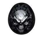 Novelty Motorcycle Helmet with Flaming Skull