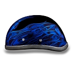 Blue Flames & Skulls Novelty Motorcycle Helmet