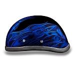 Blue Flames & Skulls Novelty Motorcycle Helmet