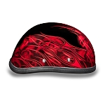 Red Flames & Skulls Novelty Motorcycle Helmet