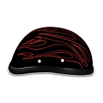 Novelty Motorcycle Helmet with Red Flames