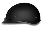 DOT Dull Black Motorcycle Half Helmet with Visor