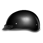 DOT Gun Metal Gray Motorcycle Half Helmet with Visor