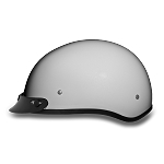 DOT Pearl White Motorcycle Half Helmet with Visor