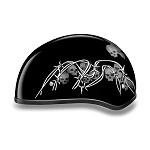 DOT Barbed Wire Skulls Motorcycle Half Helmet