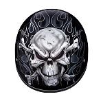 DOT Skull Crossbones Motorcycle Half Helmet