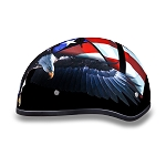 DOT Motorcycle Half Helmet with US Flag & Eagle