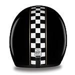 DOT Checkered Flag 3/4 Open Face Motorcycle Helmet
