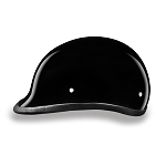 DOT Gloss Black Polo Style Motorcycle Helmet