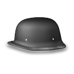 DOT German Dull Black Motorcycle Helmet