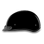 Youth DOT Gloss Black Motorcycle Half Helmet