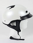 DOT Pearl White Vented Motorcycle Half Helmet