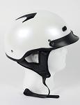 DOT Pearl White Vented Motorcycle Half Helmet