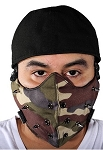 Camouflage Face Mask with Removable Spikes