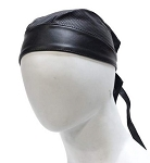 Biker Leather Skull Cap with Perforation