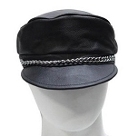 Leather Chain Hat with Adjustable Strap