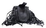 Folding Belt Bag With Fringe and Braid
