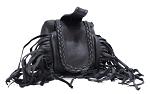 Folding Belt Bag With Fringe and Braid