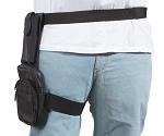 Premium Leather Thigh Bag With Gun Pocket