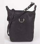 Womens Large Black PVC Purse