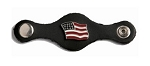 American Flag Leather Vest Extender Set of 4