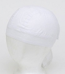 White Cotton Motorcycle Skull Cap