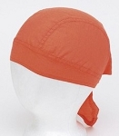 Orange Cotton Motorcycle Skull Cap