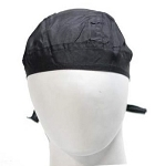 Black Cotton Motorcycle Skull Cap
