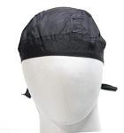 Black Cotton Motorcycle Skull Cap