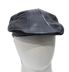 Men's Casual or biker Black Leather Hat