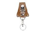 Skull and Cross Bones Biker Keychain