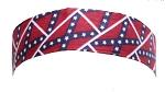 Motorcycle Headband With Rebel Flag Design
