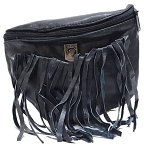 Womens Fringe POW MIA Hip Bag Purse Combo
