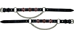Fire Department Leather Motorcycle Boot Chains