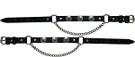 Buffalo Nickel Leather Motorcycle Boot Chains