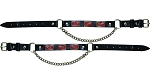 Rebel Flag Leather Motorcycle Boot Chains