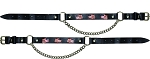 American Flag Leather Motorcycle Boot Chains