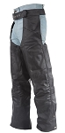 Mens Braided Leather Motorcycle Chaps
