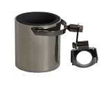 Black Chrome Motorcycle Handlebar Drink Cup Holder