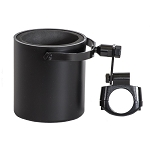 Flat Black Motorcycle Handlebar Drink Cup Holder